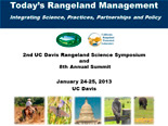 TODAY'S RANGELAND MANAGEMENT: INTEGRATING SCIENCE, PRACTICES, PARTNERSHIPS AND POLICY 2nd RANGELAND SCIENCE SYMPOSIUM